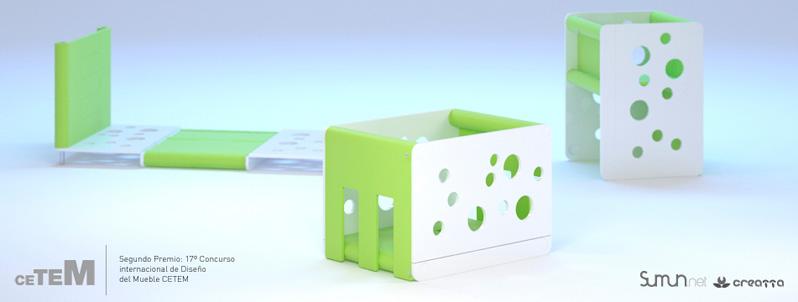 2º premio Concurso Internacional Diseño Industrial del Mueble CETEM