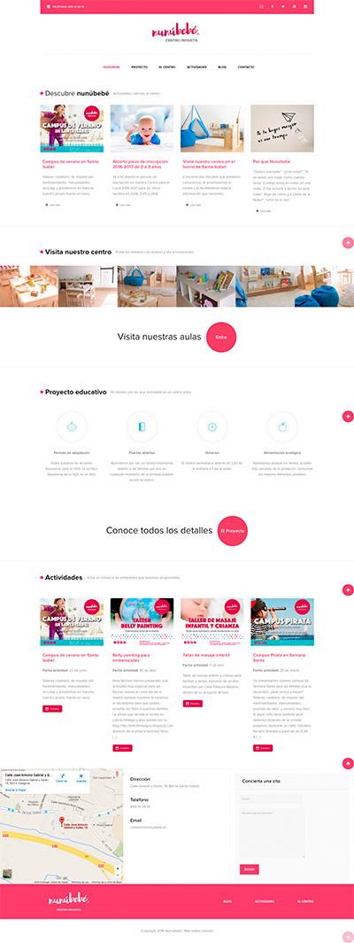 Captura: Branding, papelería corporativa y sitio web para NunúBebé