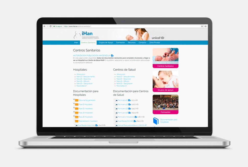 Sitio web para iHan - Web