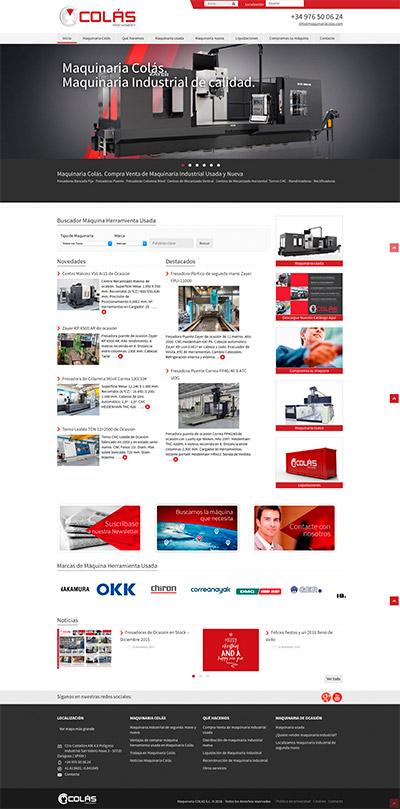 Captura: Branding, papelería corporativa y sitio web para Maquinaria Colás