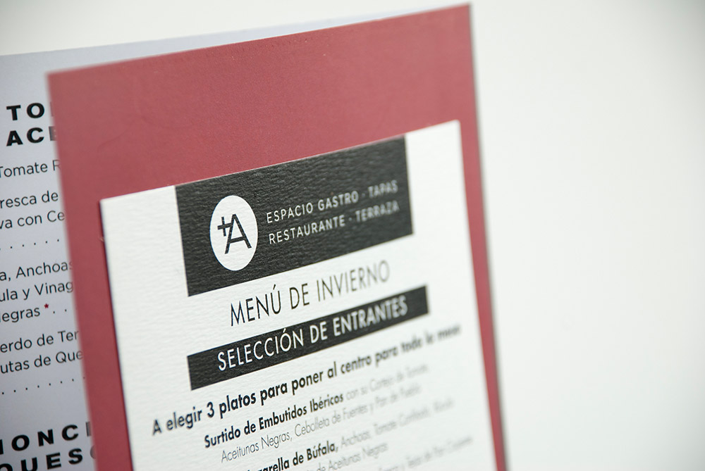 Carta para el restaurante Albarracín - Branding, Diseño Editorial
