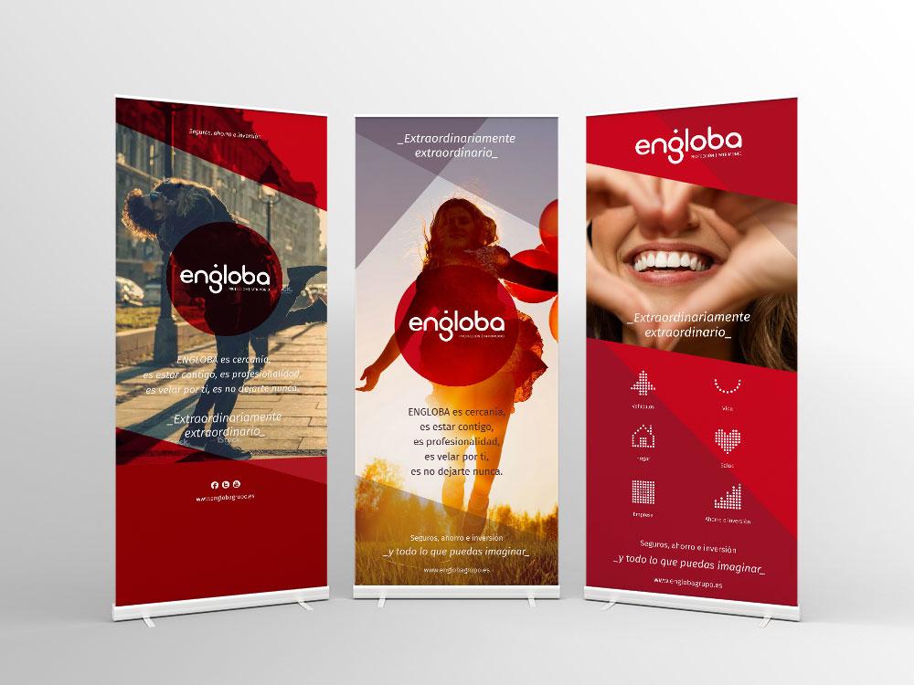 Naming y branding para la correduría de seguros Engloba - Branding