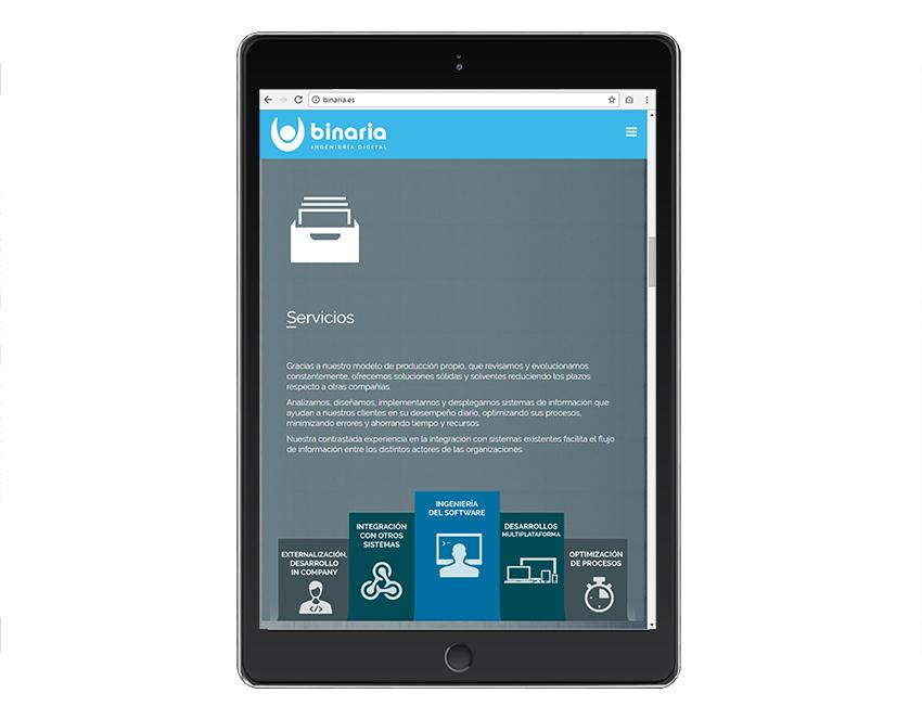 Sitio web para Soluciones Binaria - Web