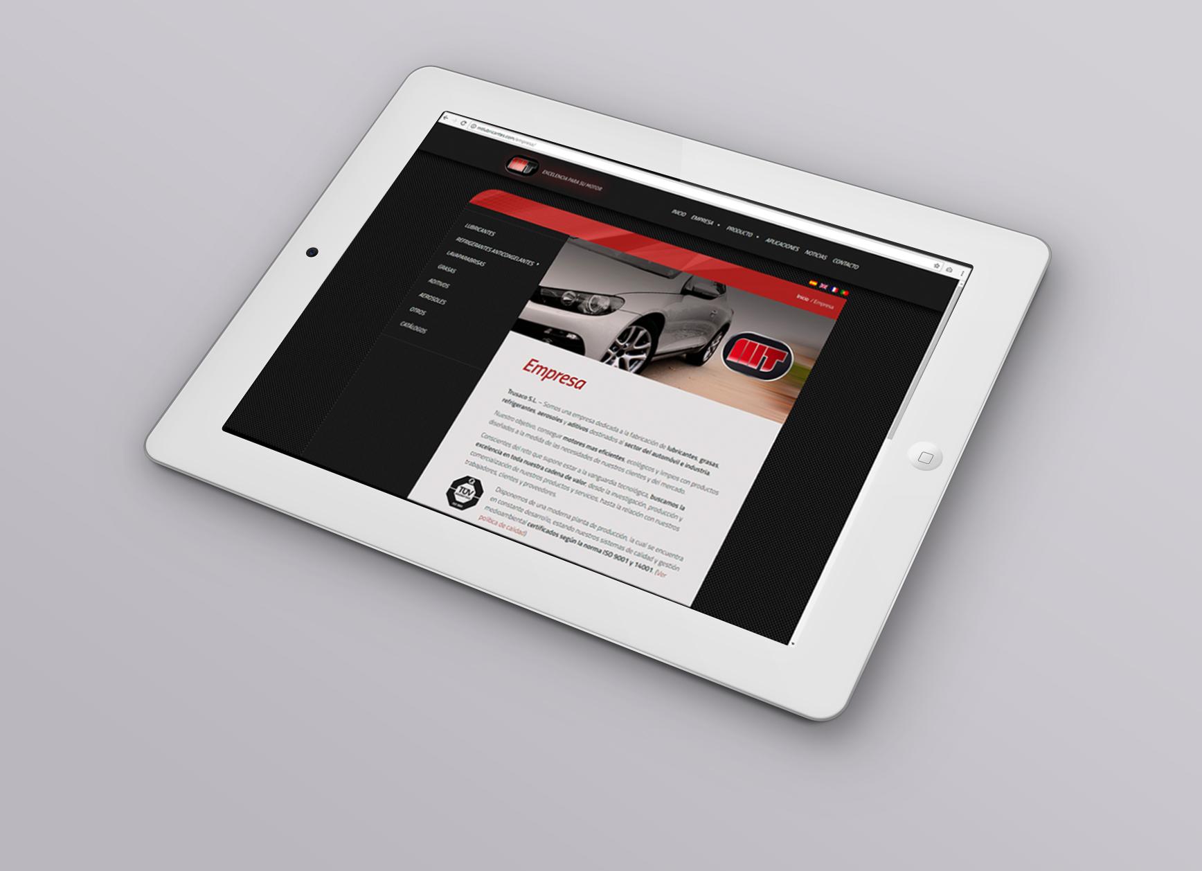 Sitio web para MT Lubricantes - Web