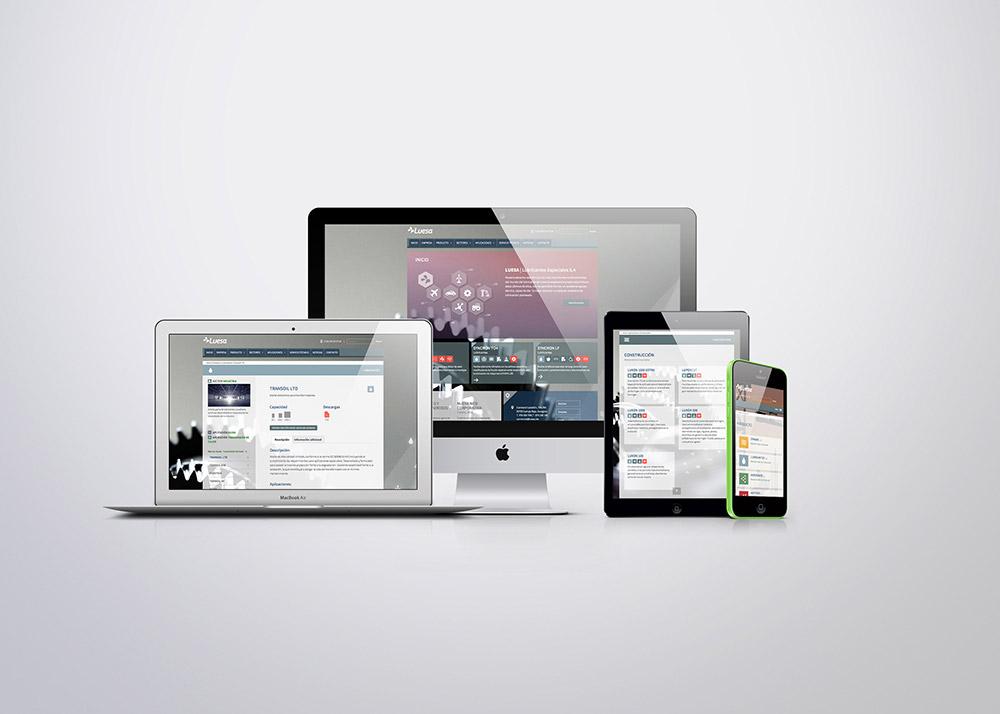 Sitio web de Luesa - Web