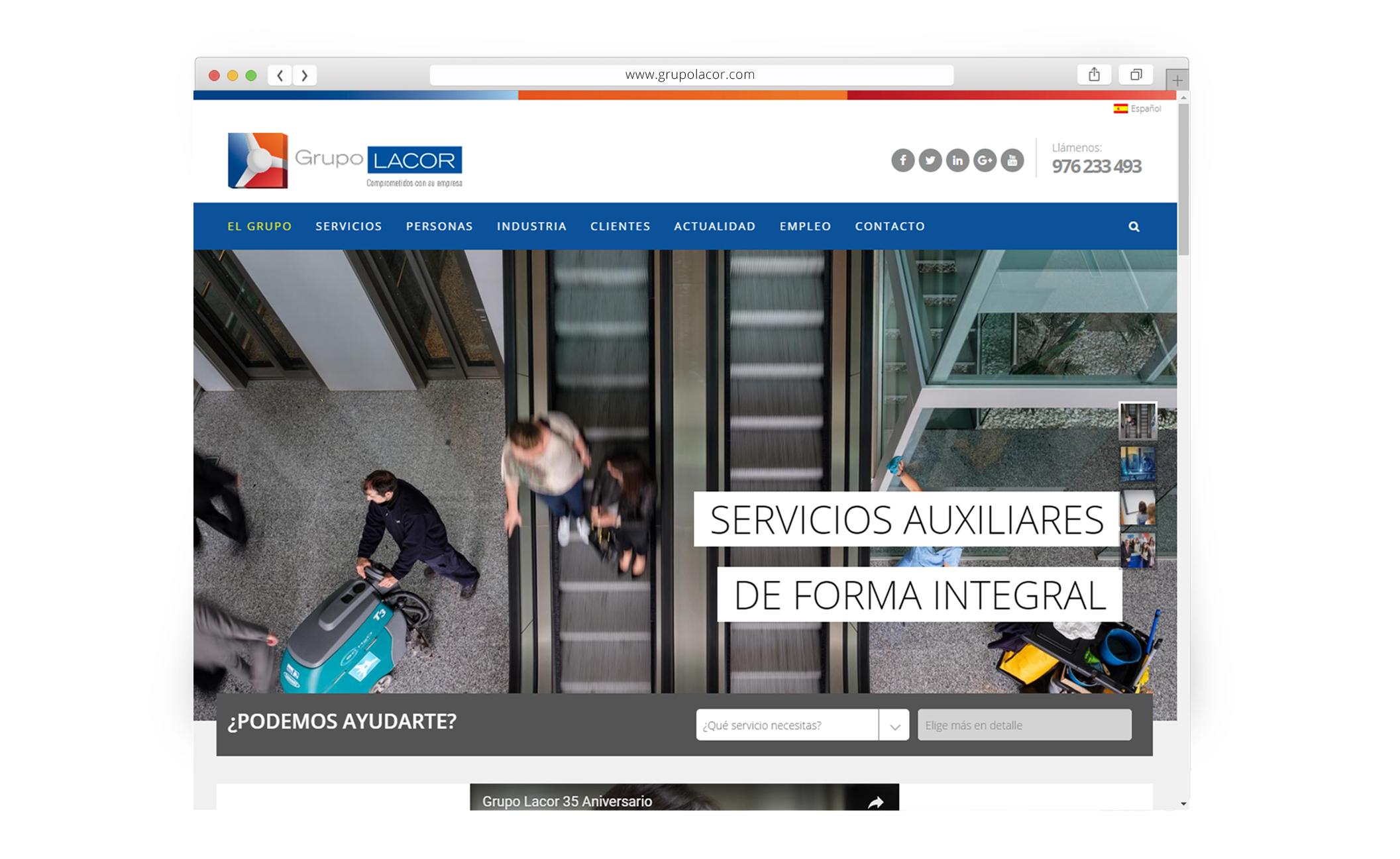 Sitio web para Grupo Lacor - Web