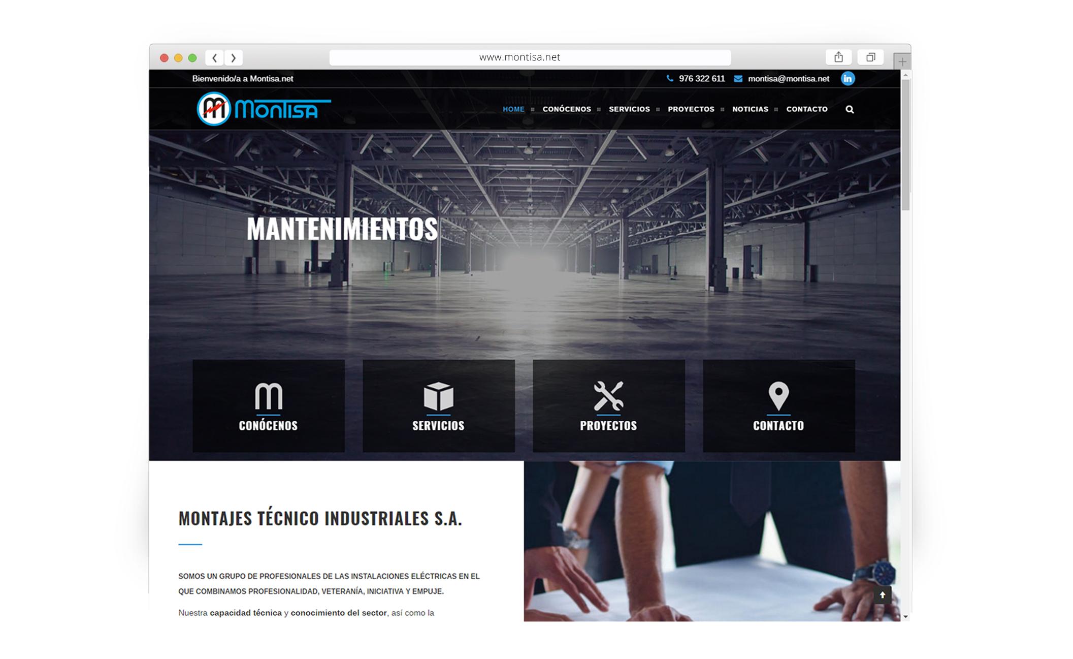 Sitio web para Montajes Técnico Industriales S.A. - Web