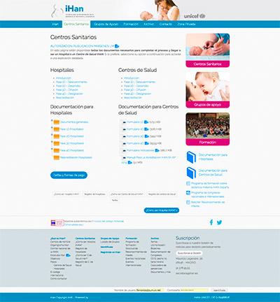 Captura: Sitio web para iHan