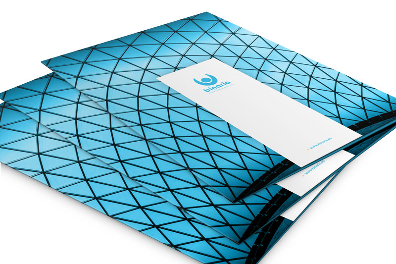 Papelería corporativa para Binaria - Branding, Gráfico