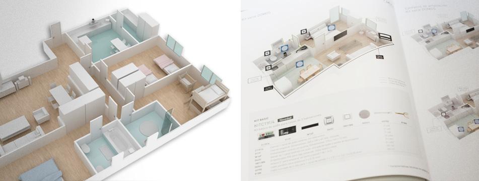 EGi Living – Catálogo Vivienda - 3D, Gráfico