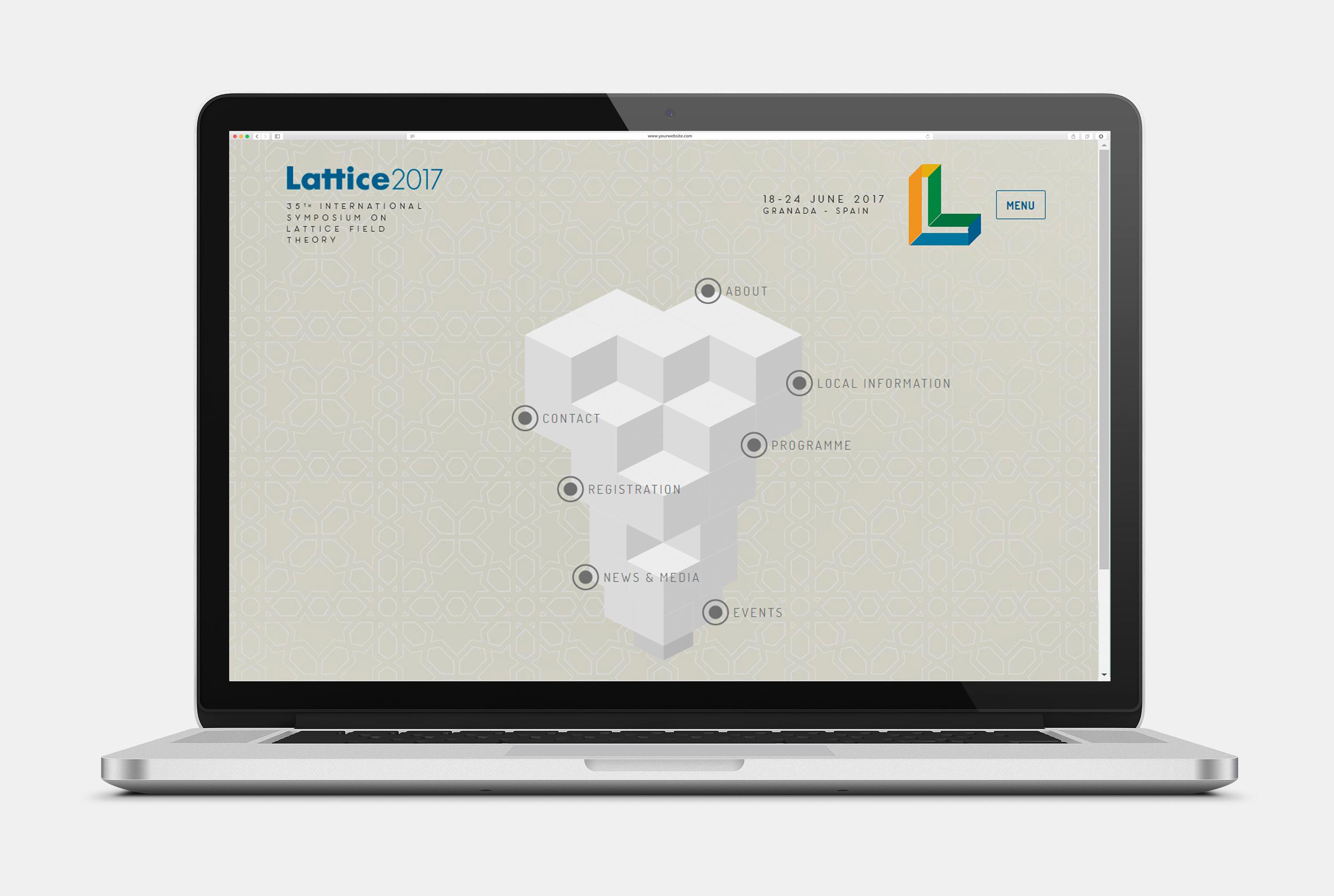 Imagen del congreso Lattice 2017 – Granada - Branding, Gráfico, Web