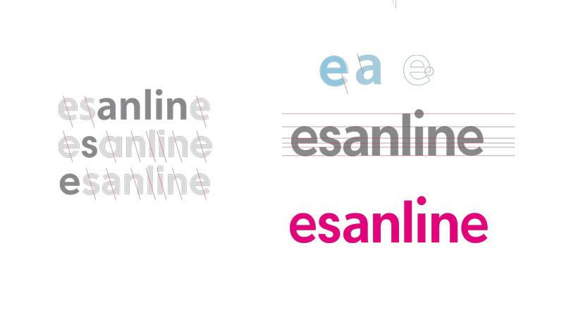 Imagen corporativa, aplicaciones y sitio web para Esanline - Branding, Web