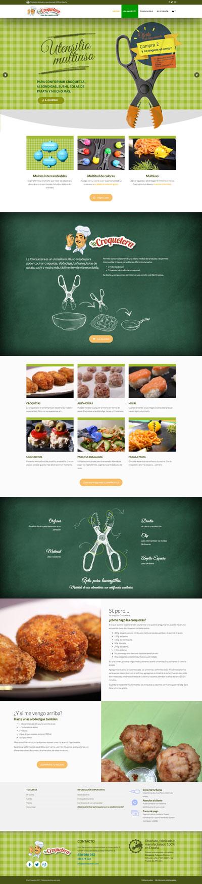 Captura: Sitio web para La Croquetera