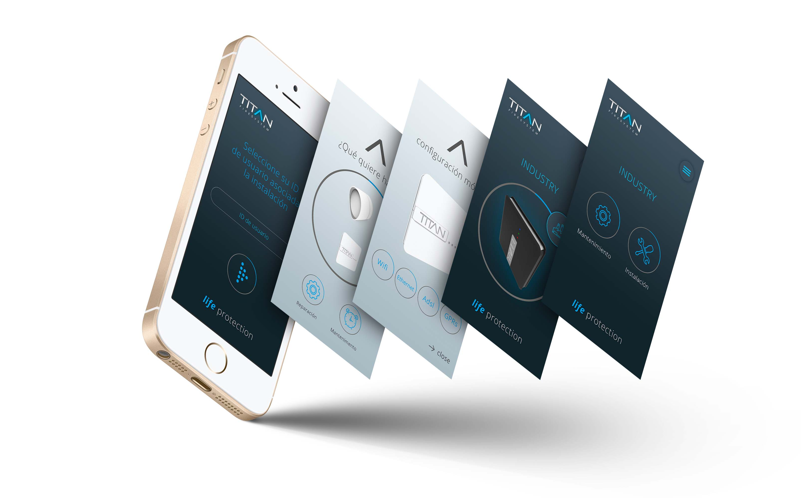 Diseño App Titan Fire System - Multimedia