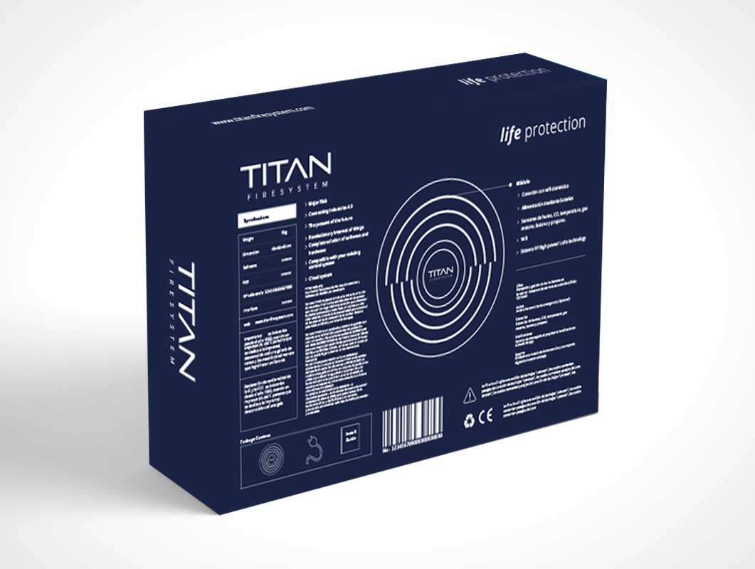 Packaging Titan Fire System - Gráfico